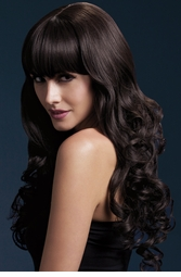Long Tousled Curl Wig Isabelle in Brown