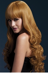 Long Tousled Curl Wig Isabelle in Auburn