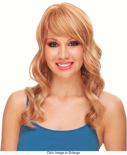 Long Tousled Curls Human Hair Blend Wig