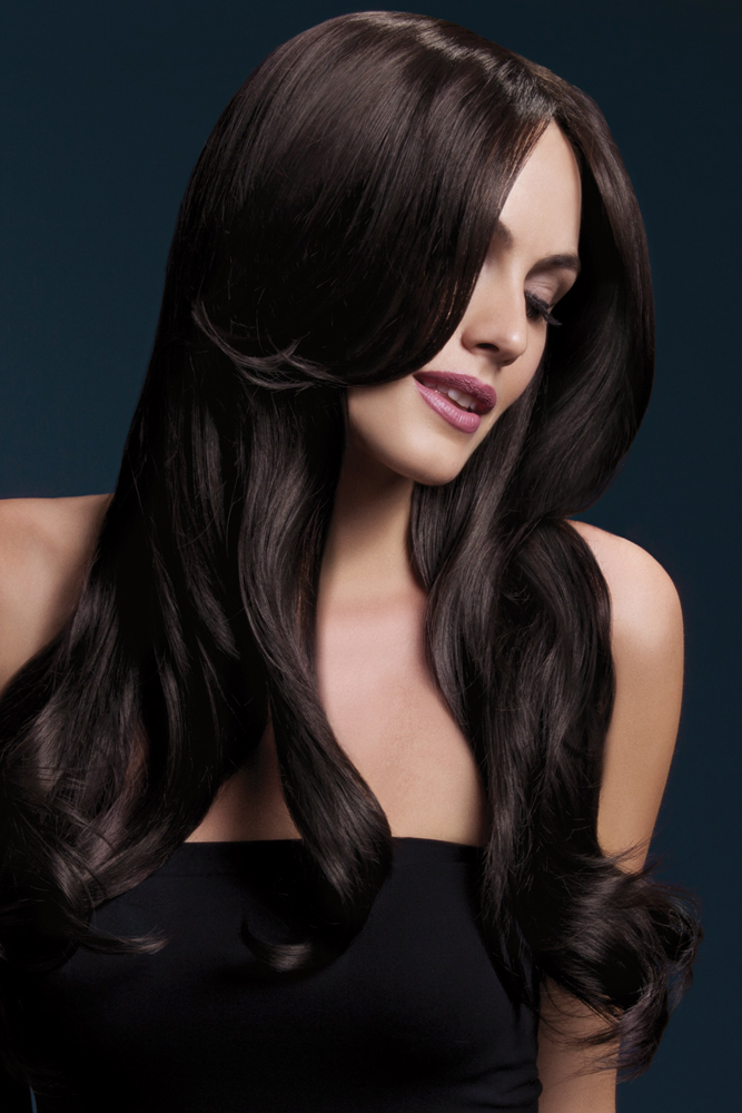 Long Wave Wig Khloe with Middle Part in Brown