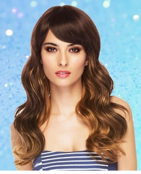 Long Wavy Wig With Bangs
