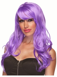 Lavender Long Curly Wig Burlesque