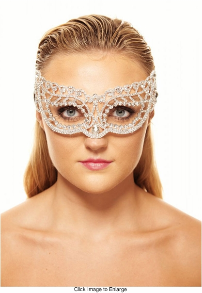 Luminous Crystal Masquerade Mask