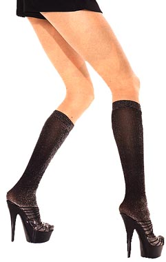 Lurex Knee Highs