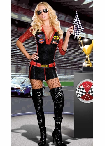 Luxe 4-Piece Racer Girl Costume