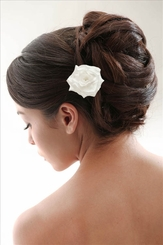 Luxe Satin Rose Flower Hair Clip (available in 15 colors)