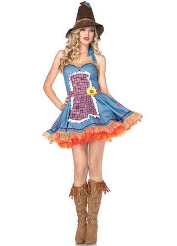 Luxe Sunflower Scarecrow Halloween Costume
