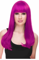 Magenta Glamour Wig for $29.99