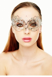 Angel Masquerade Mask with Crystal Gems