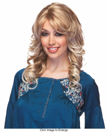 Medium Length Bouncy Curl Wig