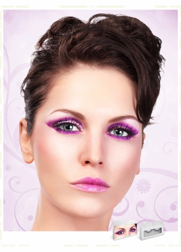 Medium Length Purple Lashes