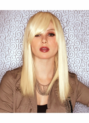 Medium Length Wig in California Blonde