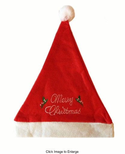 Merry Christmas Santa Felt Hat