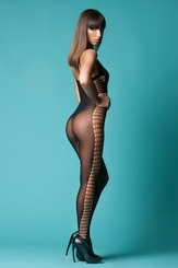Mesh Bodystocking with Side Net Panels