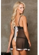 Mesh, Lace and Satin Babydoll and G-string inset 1