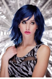 Midnight Blue Vamp Shoulder Length Wig