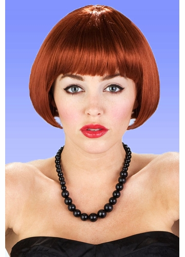 Mini Bob Wig in Cognac Red