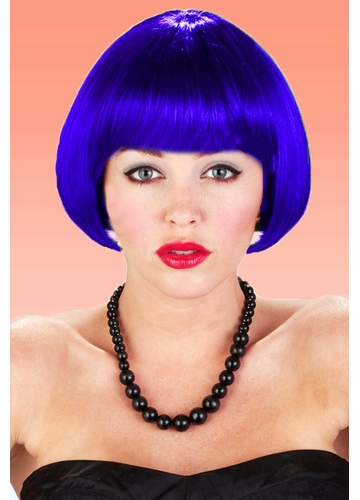 Mini Bob Wig in Dark Blue
