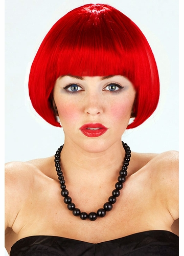 Mini Bob Wig Eve in Dark Red
