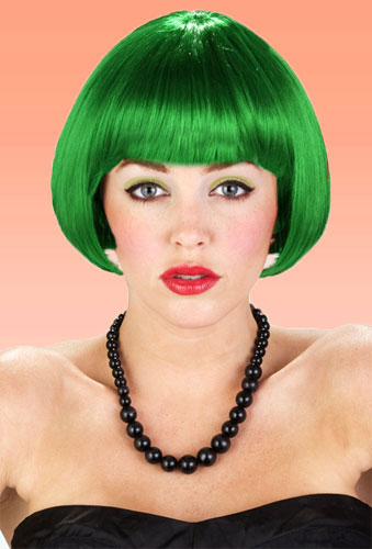 Mini Bob Wig in Emerald Green