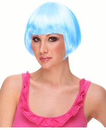 Mini Bob Wig in Light Blue
