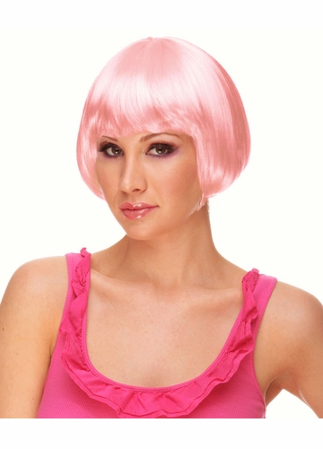 Mini Bob Wig in Light Pink