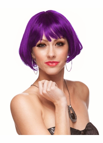 Mini Bob Wig Eve in Purple