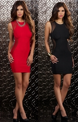 Mini Dress with Mesh Side Panels