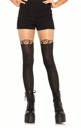 Monkey Business Pantyhose with Sheer Thigh Accent