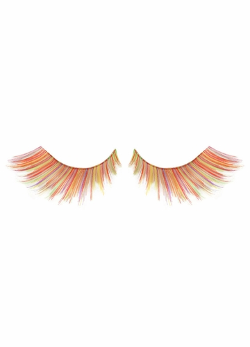 Multi Colored Yellow Rainbow Fake Lashes