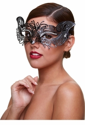 Mystery Masquerade Mask with Crystals