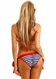 Nautical Stripe Pin-Up Pucker Back Bikini inset 1