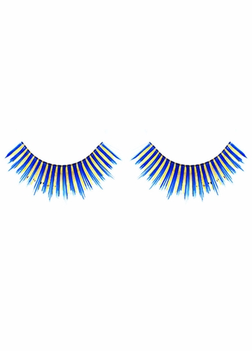 Navy Blue and Gold False Lashes