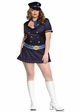 Plus Size Navy Blue Captain Costume inset 1