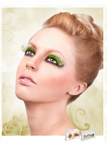 Neon Green and Gold Lashes