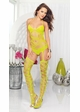 Net Bodystocking Romper with Attached Stockings inset 2