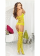 Net Bodystocking Romper with Attached Stockings inset 3