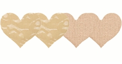 Nude Heart Shaped Self Adhesive Pasties
