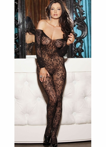 Off Shoulder Lace Bodystocking
