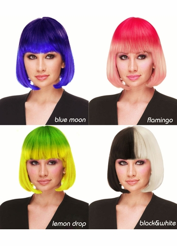 Ombre Colors of Sleek Bob Wig Cindy