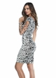One Shoulder Animal Print Dress inset 1