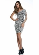 One Shoulder Animal Print Dress inset 2