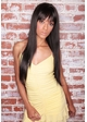 Onyx Black Sleek and Long Hair Jewel Wig inset 1