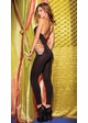 Opaque Footless Bodystocking with Shredded Front and Sides inset 1