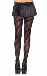 Opaque Geometric Knit Tights