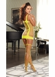 Opaque Net Garter Dress with Attached Stockings inset 2
