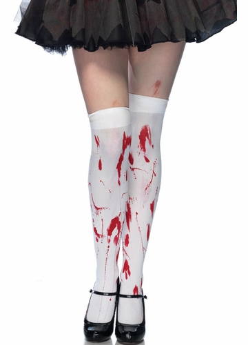 Opaque Zombie Thigh High Stockings