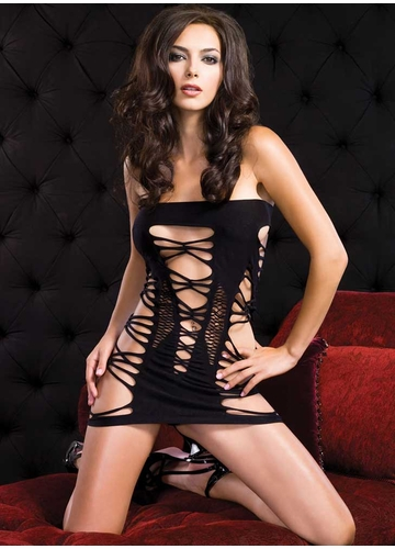 Open Net Tube Dress