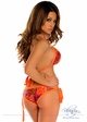 Orange Jungle Safari Pucker Back Bikini inset 1