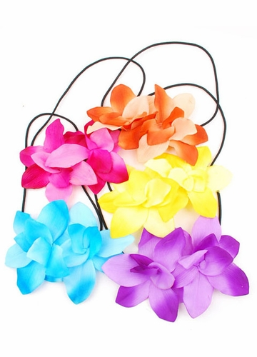 Orchid Flower Elastic Headband (available in 6 colors)